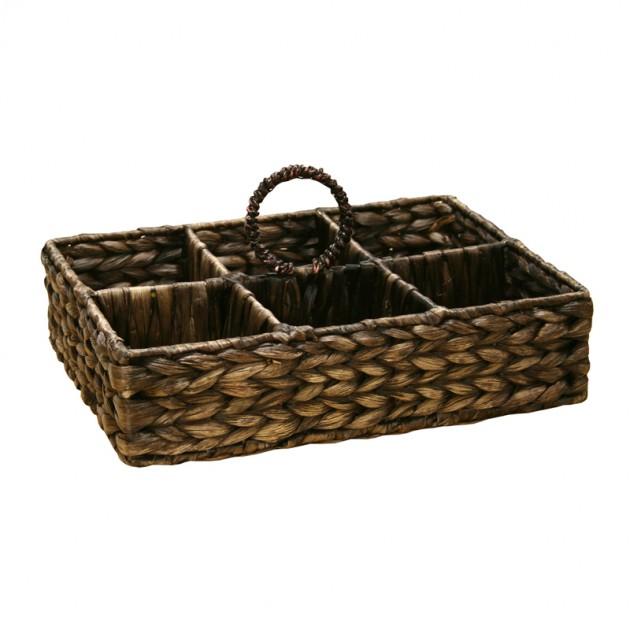 На фото: Корзина для стаканов (62428), Плетені кошики Home4You, каталог, ціна
