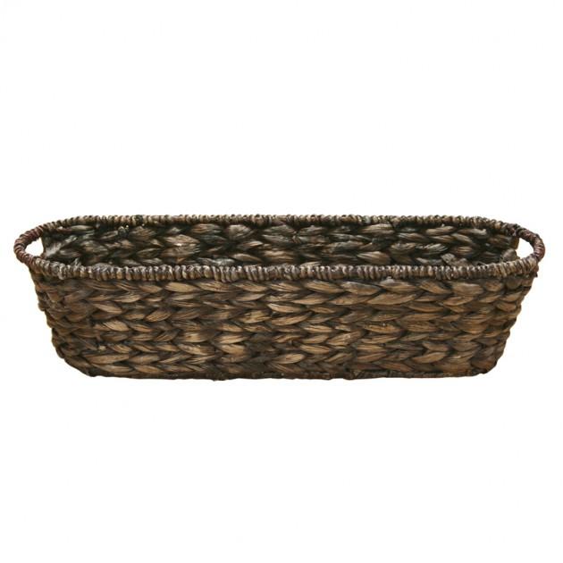 На фото: Корзина овальная (62431), Плетені кошики Home4You, каталог, ціна