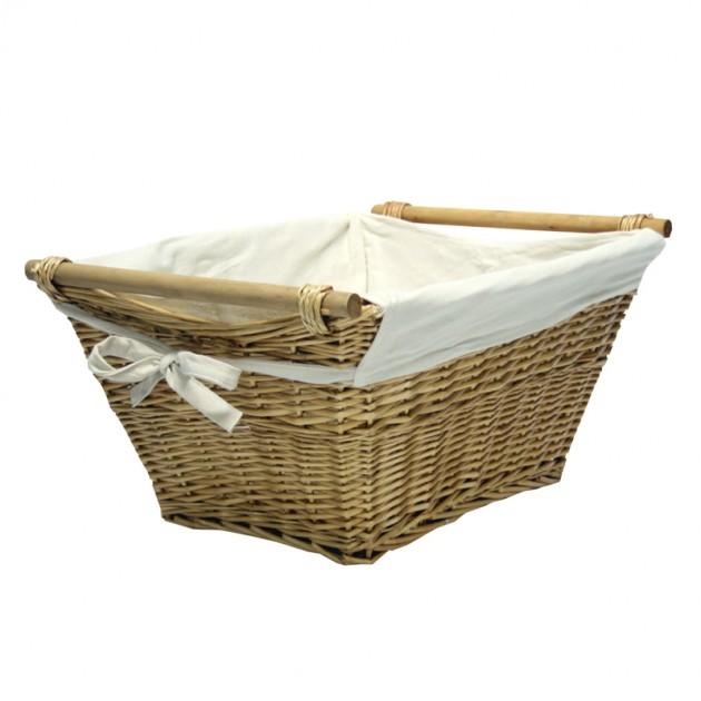 На фото: Корзина для белья (67812), Плетені кошики Home4You, каталог, ціна