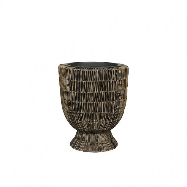 На фото: Кругле кашпо-ваза Wicker Fitrit (38010), Кашпо та горщики для квітів Garden4You, каталог, ціна
