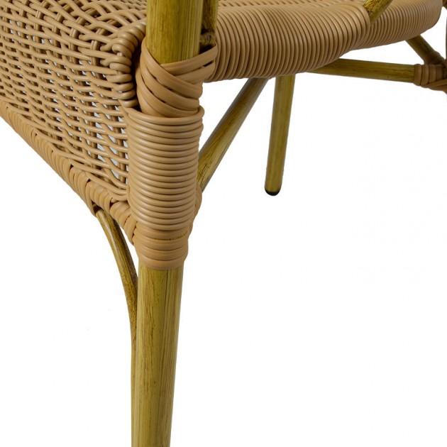 На фото: Стілець Bambus Rustic (18634), Стільці зі штучного ротангу Garden4You, каталог, ціна