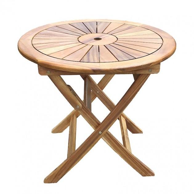 На фото: Круглий складаний стіл Cherry (13324), Дерев'яні столи Garden4You, каталог, ціна