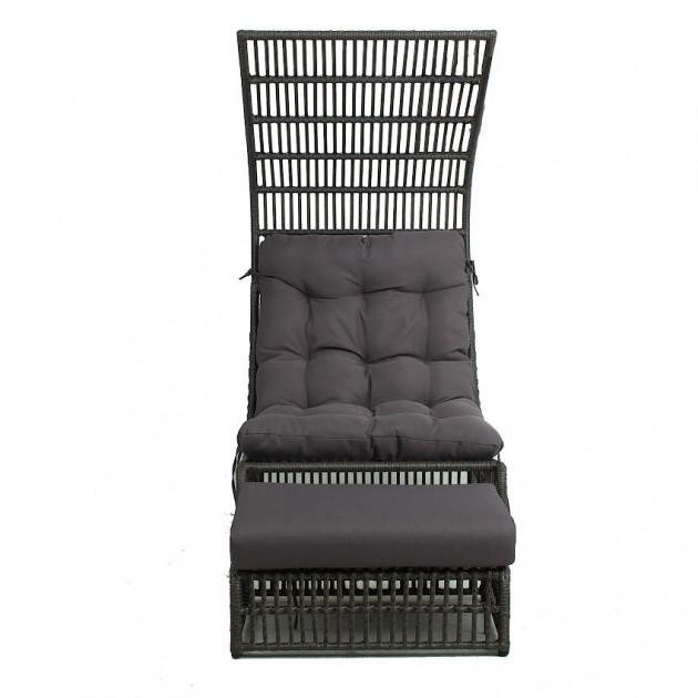 На фото: Крісло з підставкою для ніг Chestnut (28087), Крісла зі штучного ротангу Garden4You, каталог, ціна