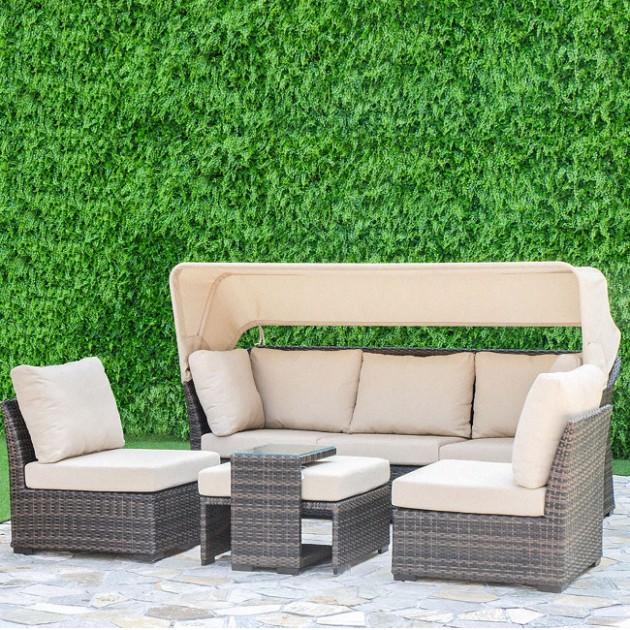 На фото: Комплект меблів Valora (12127), Дивани і комплекти зі штучного ротангу Garden4You, каталог, ціна
