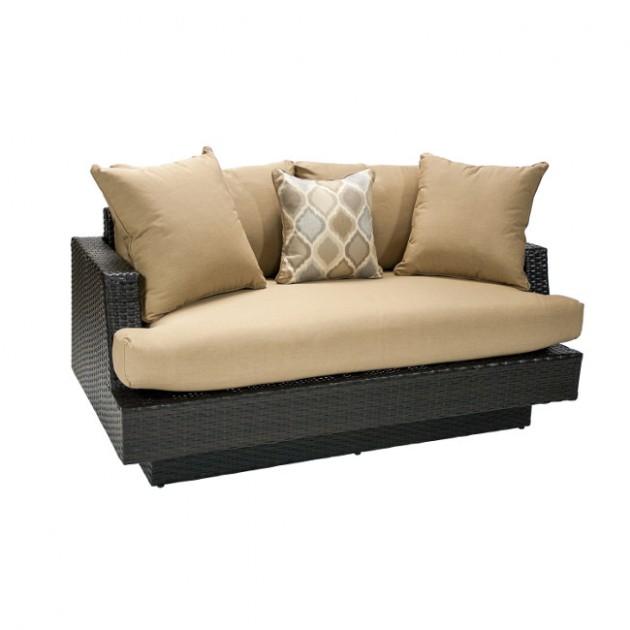 На фото: Двухместный диван Stella (13149), Дивани і комплекти зі штучного ротангу Garden4You, каталог, ціна