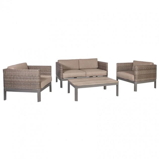 На фото: Меблі для тераси Admiral (40044), Дивани і комплекти зі штучного ротангу Garden4You, каталог, ціна