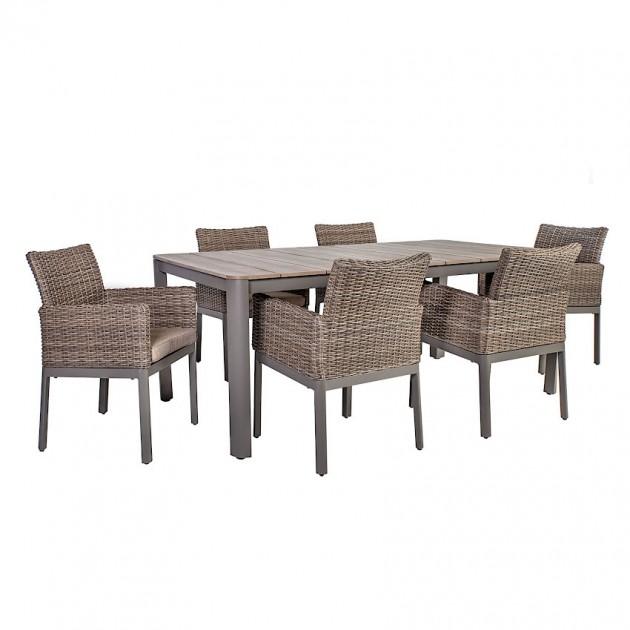 На фото: Столовий комплект Admiral (40045), Столові комплекти зі штучного ротангу Garden4You, каталог, ціна