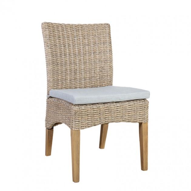 На фото: Плетений стілець Henry (10242), Стільці зі штучного ротангу Garden4You, каталог, ціна