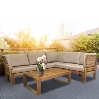 На фото: Кутовий комплект Alpinia (k12568), Модульні дивани з дерева Garden4You, каталог, ціна