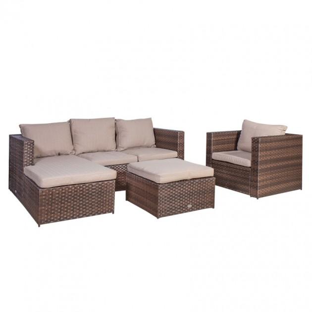 На фото: Комплект меблів для відпочинку Kansas (20551), Дивани і комплекти зі штучного ротангу Garden4You, каталог, ціна