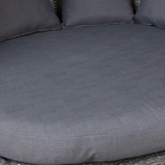 На фото: Диван mini MUSE Grey (23201), Дивани і комплекти зі штучного ротангу Garden4You, каталог, ціна
