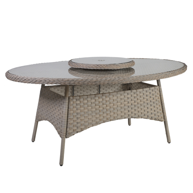 На фото: Обідній стіл Pacific (10492), Столи зі штучного ротангу Garden4You, каталог, ціна