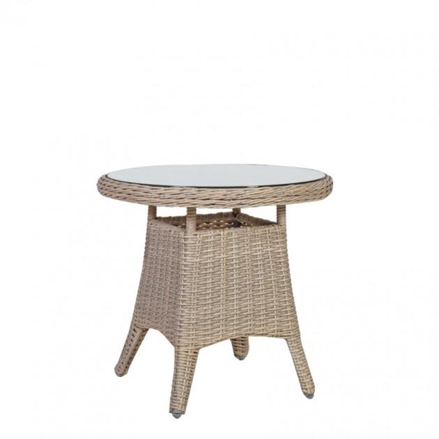 На фото: Кавовий столик Pacific (10497), Столи зі штучного ротангу Garden4You, каталог, ціна