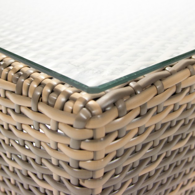 На фото: Столик Sevilla Cappuccino (11918), Столи зі штучного ротангу Garden4You, каталог, ціна