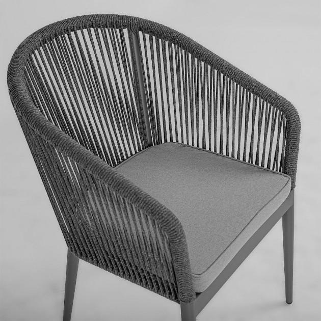 На фото: Садове крісло Ecco (21177), Крісла зі шнура Garden4You, каталог, ціна