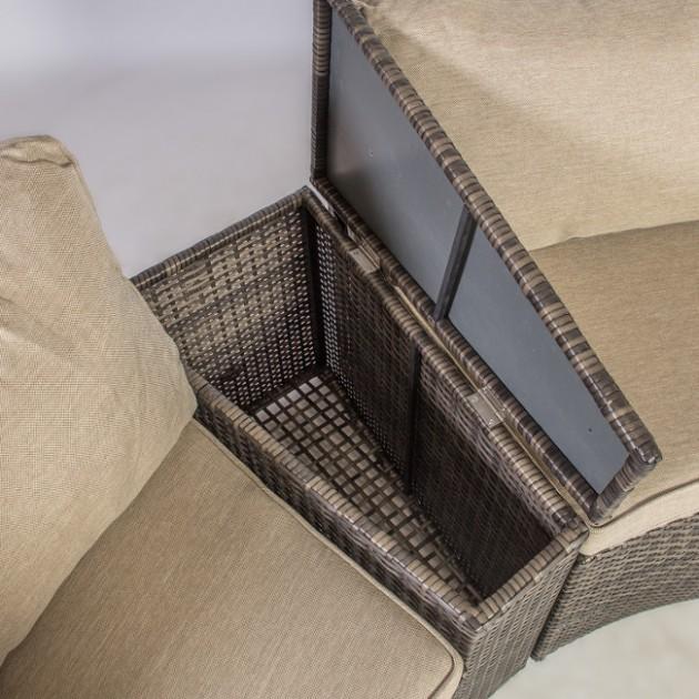 На фото: Комплект Clio (12138), Дивани і комплекти зі штучного ротангу Garden4You, каталог, ціна