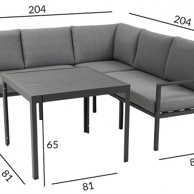 На фото: Столовий комплект Adrian (21181), Кутові дивани зі столом Garden4You, каталог, ціна