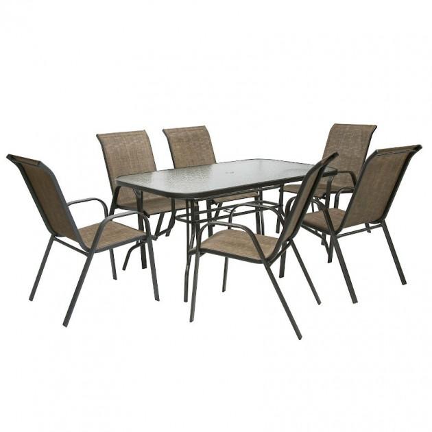 На фото: Столовий комплект Dublin (k118711), Столові комплекти з текстилену Garden4You, каталог, ціна