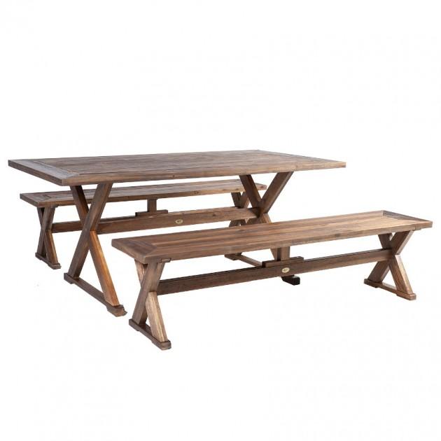На фото: Столовий комплект Farmer (k13307), Столові комплекти з дерева Garden4You, каталог, ціна