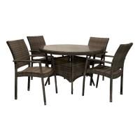 На фото: Столовий комплект Wicker (k11974), Столові комплекти зі штучного ротангу Garden4You, каталог, ціна