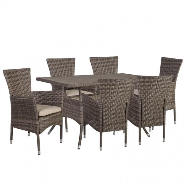 На фото: Столовий комплект Paloma (k21132), Столові комплекти зі штучного ротангу Garden4You, каталог, ціна