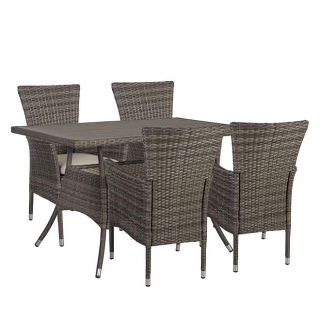 На фото: Столовий комплект Paloma (k21133), Столові комплекти зі штучного ротангу Garden4You, каталог, ціна