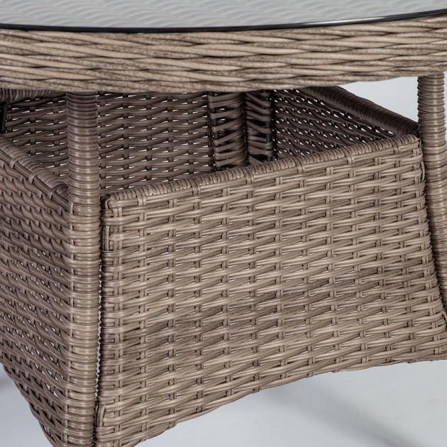 На фото: Обідній стіл Toscana (10523), Столи зі штучного ротангу Garden4You, каталог, ціна