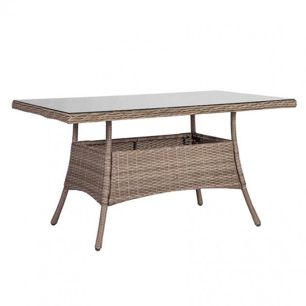 На фото: Обідній стіл Toscana (10524), Столи зі штучного ротангу Garden4You, каталог, ціна