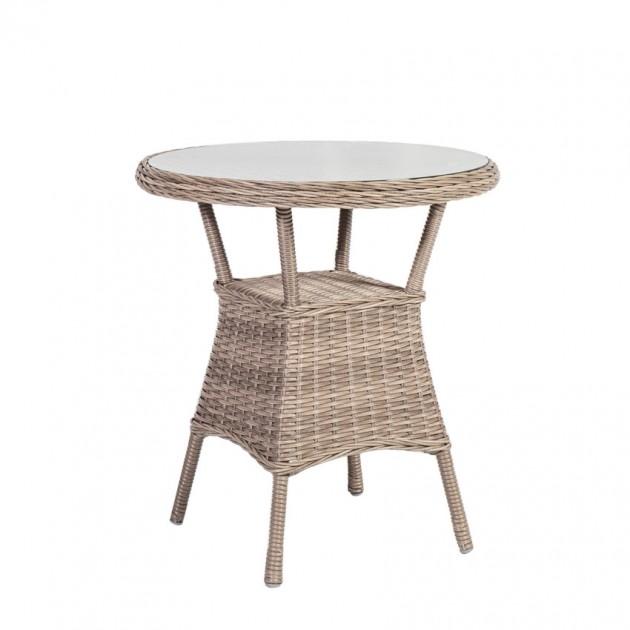 На фото: Кавовий столик Toscana (10525), Столи зі штучного ротангу Garden4You, каталог, ціна