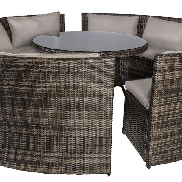 На фото: Комплект Veneto (11880), Столові комплекти зі штучного ротангу Garden4You, каталог, ціна