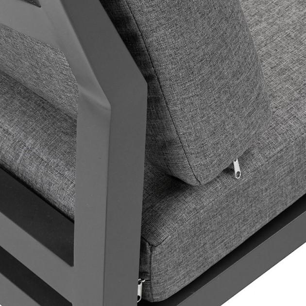 На фото: Комплект меблів для тераси Phoenix (15405), Кутові дивани з кавовим столиком Garden4You, каталог, ціна