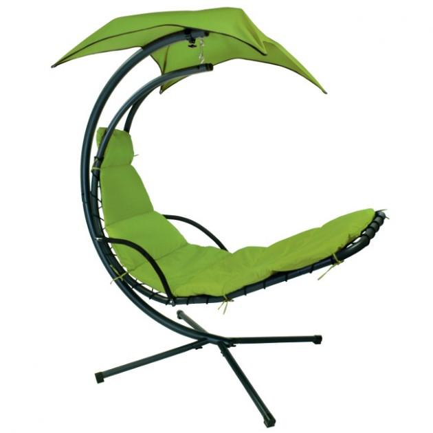 На фото: Підвісний шезлонг Dream Green (10023), Шезлонги-гойдалки Garden4You, каталог, ціна