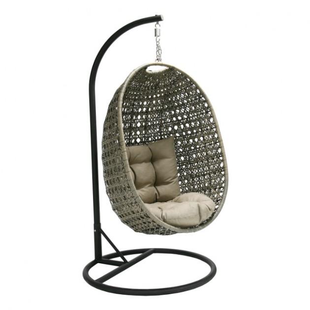 На фото: Підвісне крісло Cora (20956), Крісла зі штучного ротангу Garden4You, каталог, ціна