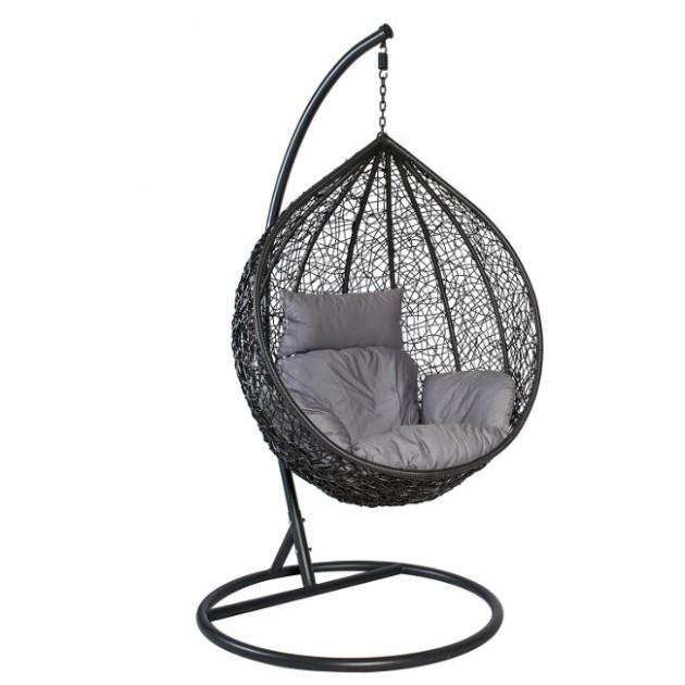 На фото: Підвісне крісло Droplet (28018), Крісла зі штучного ротангу Garden4You, каталог, ціна