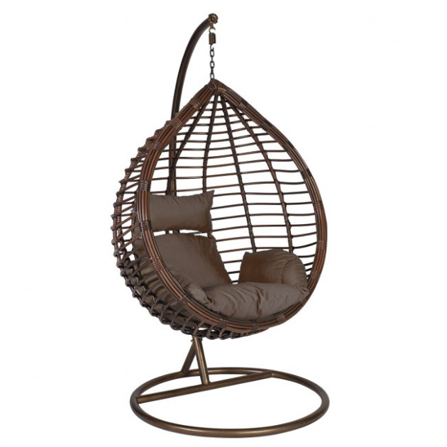 На фото: Підвісне крісло Droplet (28019), Крісла зі штучного ротангу Garden4You, каталог, ціна