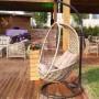 На фото: Плетене підвісне крісло Pangolin (20919), Крісла зі штучного ротангу Garden4You, каталог, ціна