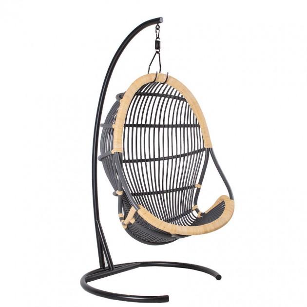 На фото: Підвісне крісло з натурального ротанга Tiger (28301), Підвісні крісла Garden4You, каталог, ціна