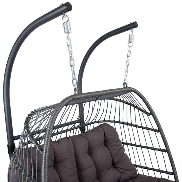 На фото: Двомісне підвісне крісло YOYO (28073), Крісла зі штучного ротангу Garden4You, каталог, ціна