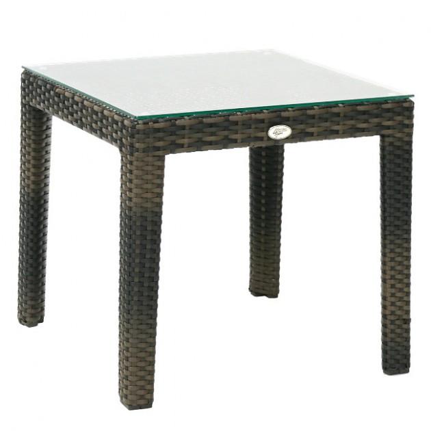 На фото: Допоміжний столик Wicker Dark Brown (11809), Столи зі штучного ротангу Garden4You, каталог, ціна