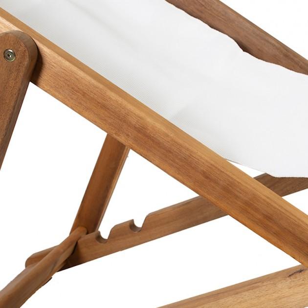 На фото: Крісло-шезлонг Finlay (13454), Дерев'яні шезлонги Garden4You, каталог, ціна