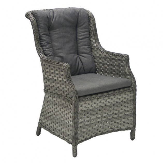 На фото: Крісло з подушками Geneva (11860), Крісла зі штучного ротангу Garden4You, каталог, ціна