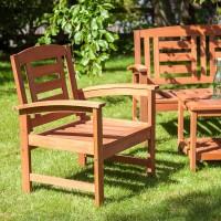 На фото: Садове крісло Woody (13293), Крісла з дерева Garden4You, каталог, ціна