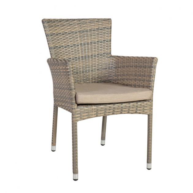 На фото: Крісло Larache (21048), Крісла зі штучного ротангу Garden4You, каталог, ціна