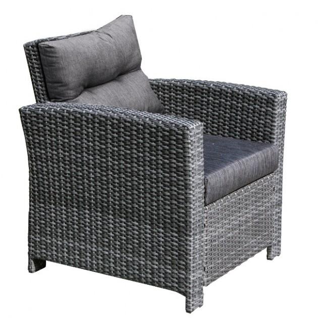На фото: Крісло Pavia Grey (21123), Кутові дивани з обіднім столом Garden4You, каталог, ціна