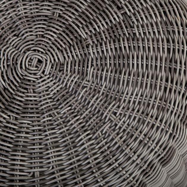 На фото: Плетений пуф Wicker (38034), Стільці зі штучного ротангу Garden4You, каталог, ціна