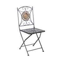 На фото: Складаний стілець Mosaic (38665), Металеві стільці Garden4You, каталог, ціна