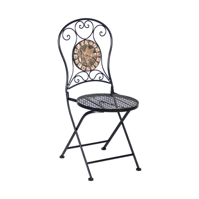 На фото: Складаний стілець Mosaic (38666), Металеві стільці Garden4You, каталог, ціна