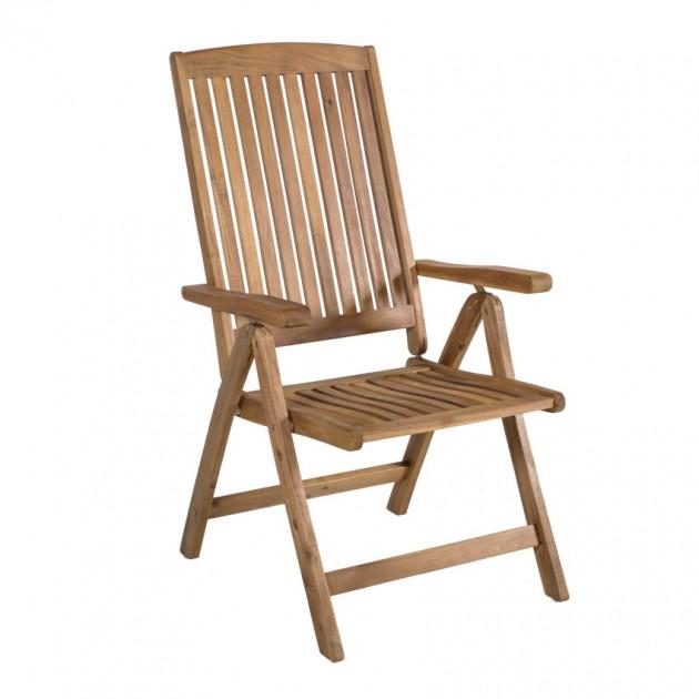На фото: Складаний стілець Finlay (13238), Дерев'яні стільці Garden4You, каталог, ціна