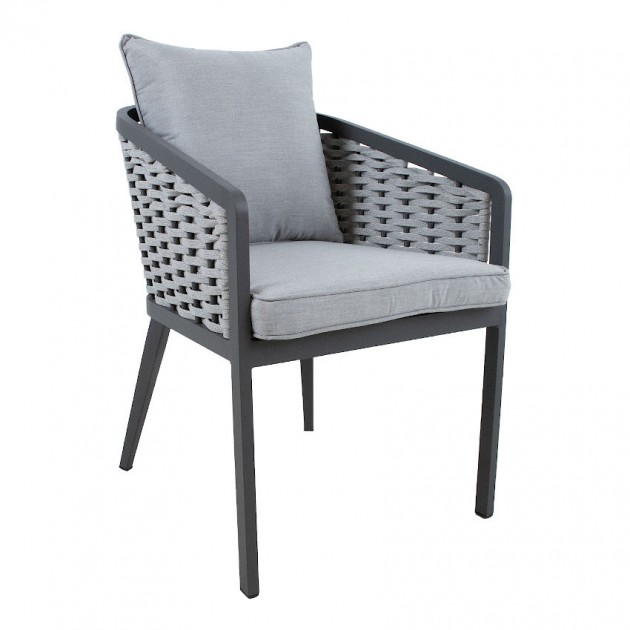 На фото: Крісло на терасу Marie Grey (13685), Крісла зі шнура Garden4You, каталог, ціна