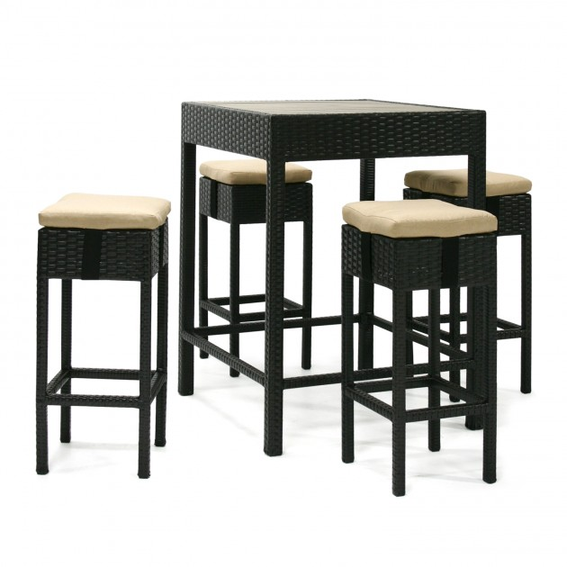 На фото: Барний комплект Stella (13141), Столові комплекти зі штучного ротангу Garden4You, каталог, ціна